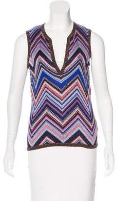 Missoni Patterned Metallic Top