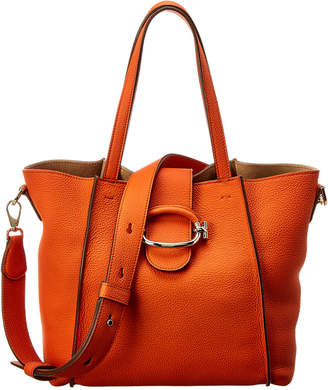 Tod's Logo Ring Leather Tote
