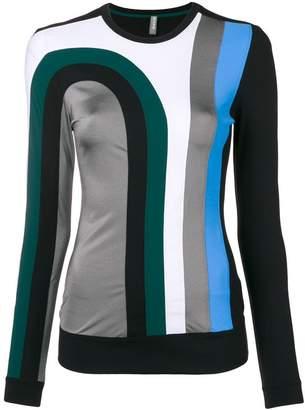 NO KA 'OI No Ka' Oi colour-block fitted top
