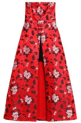 Alice + Olivia (アリス オリビア) - Alice + Olivia Asymmetric Floral-Jacquard Gown