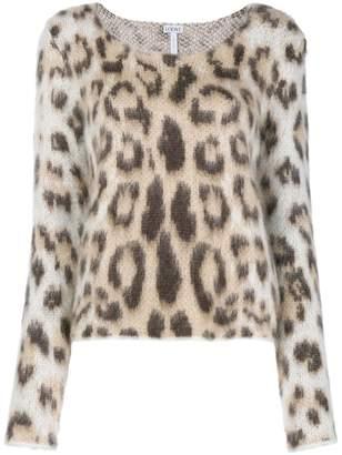 Loewe leopard mohair jumper