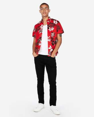 Express Hawaiian Floral Short Sleeve Shirt