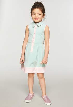 Milly MINIS SEERSUCKER CLASSICO SHIRT DRESS