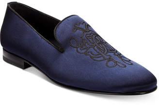 Roberto CavalliMen's Satin Embroidered Loafers Men's Shoes POKNZ5kFfV