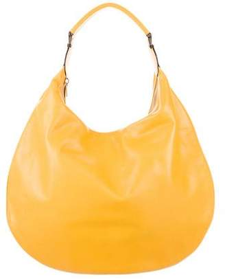 Valextra Large Leather Hobo