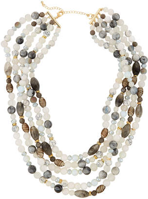 Lydell NYC Multi-Row Semiprecious Necklace