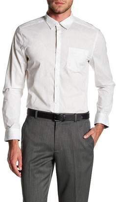 Kenneth Cole New York Tree Print Tailored Stretch Fit Shirt