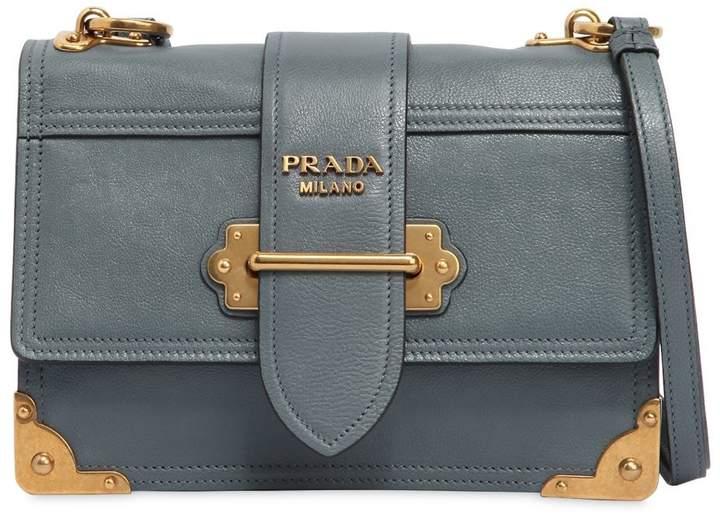 Medium Cahier Leather Shoulder Bag