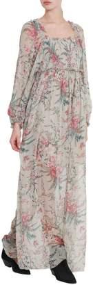 Zimmermann Floral Printed Off-shoulder Long Dress