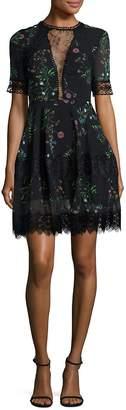Nicholas Women's Silk Floral-Print Mini Dress