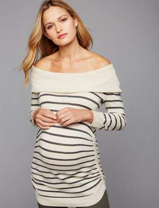 A Pea in the Pod Off The Shoulder Maternity Sweater