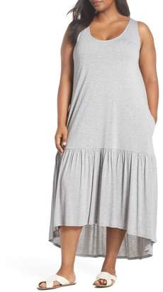 Sejour Sleeveless High\u002FLow Knit Maxi Dress (Plus Size)