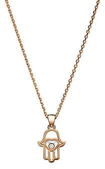 Chopard Women's Happy Diamonds Hamsa Hand Diamond & 18K Rose Gold Pendant Necklace