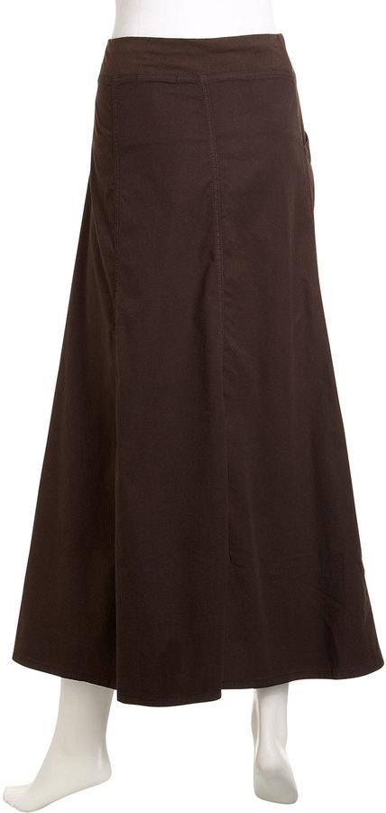 Nola Z Reach Ruched Maxi Skirt, Dark Olive