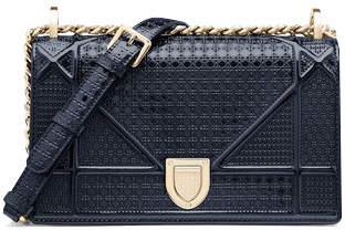 Christian Dior Diorama Shoulder Bag Small Blue