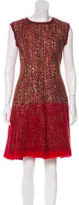 Alberta Ferretti Tweed A-Line Dress