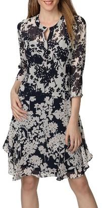 Women's Donna Morgan Mix Print Chiffon A-Line Dress $128 thestylecure.com
