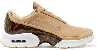 Nike - Air Max Jewell Lx Leather And Tortoiseshell Plastic Sneakers - Beige $150 thestylecure.com