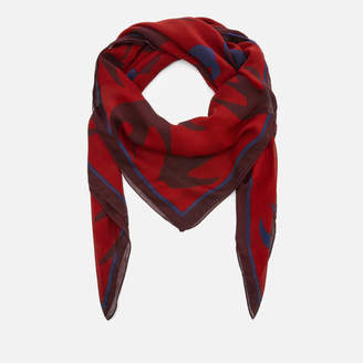 McQ Women's Swallow Swarm Scarf - Red Clay