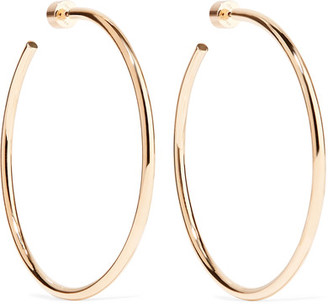 Jennifer Fisher - Classic Round Gold-plated Hoop Earrings - one size $295 thestylecure.com