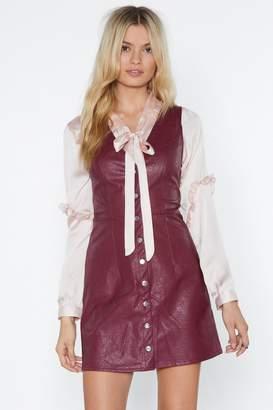 Nasty Gal Take 'Em Down Faux Leather Dress