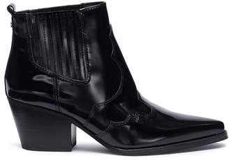Sam Edelman 'Winona' patent leather panelled ankle boots