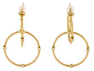 Paul Morelli 18K Diamond Double Unity Hoop Earrings
