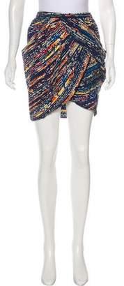 Zero Maria Cornejo Printed Mini Skirt