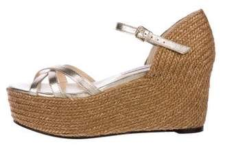 Jimmy Choo Leather Espadrille Wedges