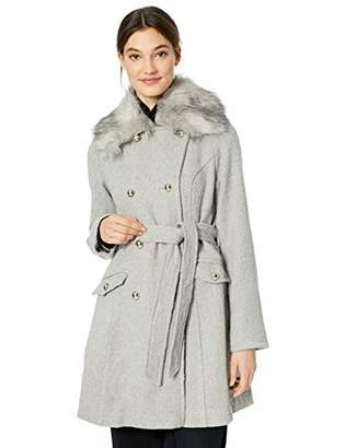 Jessica Simpson Women's Double Breasted Wool Fashion Coat, Camel, S
