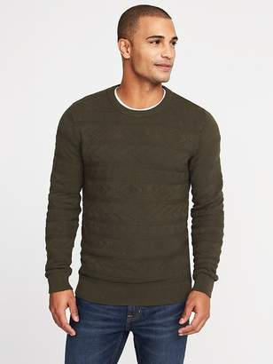 Old Navy Guernsey-Knit Crew-Neck Sweater for Men
