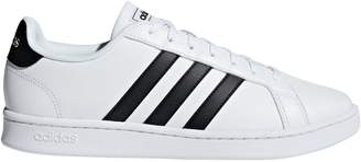 adidas Perforated 3-Stripe Leather Sneakers