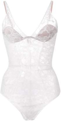 Fleur Du Mal plunge lace bodysuit