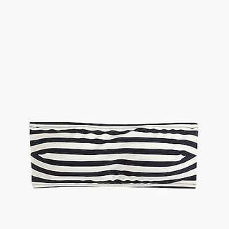 J.Crew Tie-back bandeau bikini top in stripe