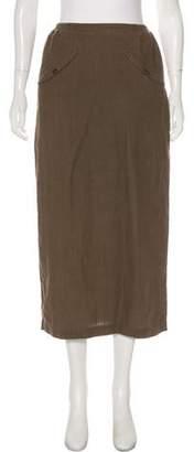 eskandar Midi Linen Skirt