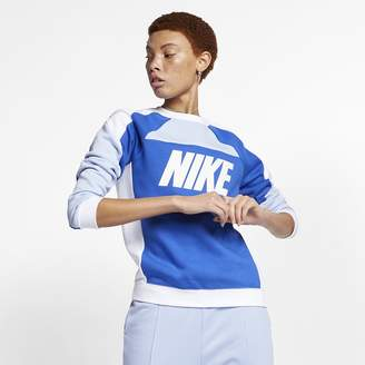 Nike Women's Fleece Color-Block Crew Sportswear