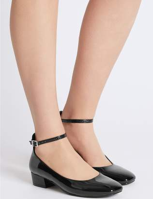 Marks and Spencer Block Heel Ankle Strap Court Shoes