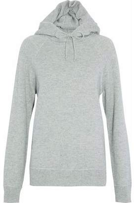 Alexander Wang Mélange Wool And Cashmere-Blend Hooded Sweater