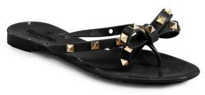 Valentino Rockstud Jelly Thong Sandals $295 thestylecure.com