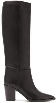 Gianvito Rossi - Western 85 Stacked Block Heel Boots - Womens - Black