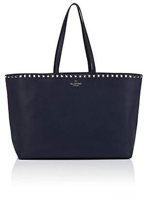 Valentino Women's Rockstud Leather Tote Bag - Navy