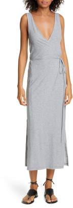 Vince Sleeveless Wrap Midi Dress