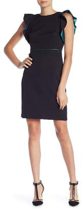 Taylor Ruffle Cap Sleeve Solid Dress