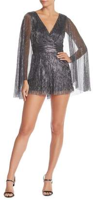 Do & Be Do + Be Surplice Neck Metallic Romper