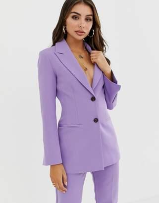 Asos Design DESIGN pop waisted suit blazer