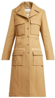 Chloé Patch Pocket Cotton Coat - Womens - Brown