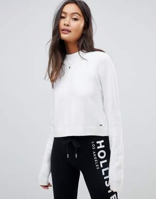 Hollister stripe crop knit sweater