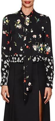 Derek Lam Women's Floral-Print Silk Blouse