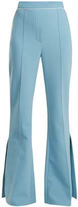 Ellery Orlando mid-rise flared crepe trousers
