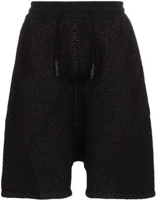 Byborre Stitch detail knit shorts